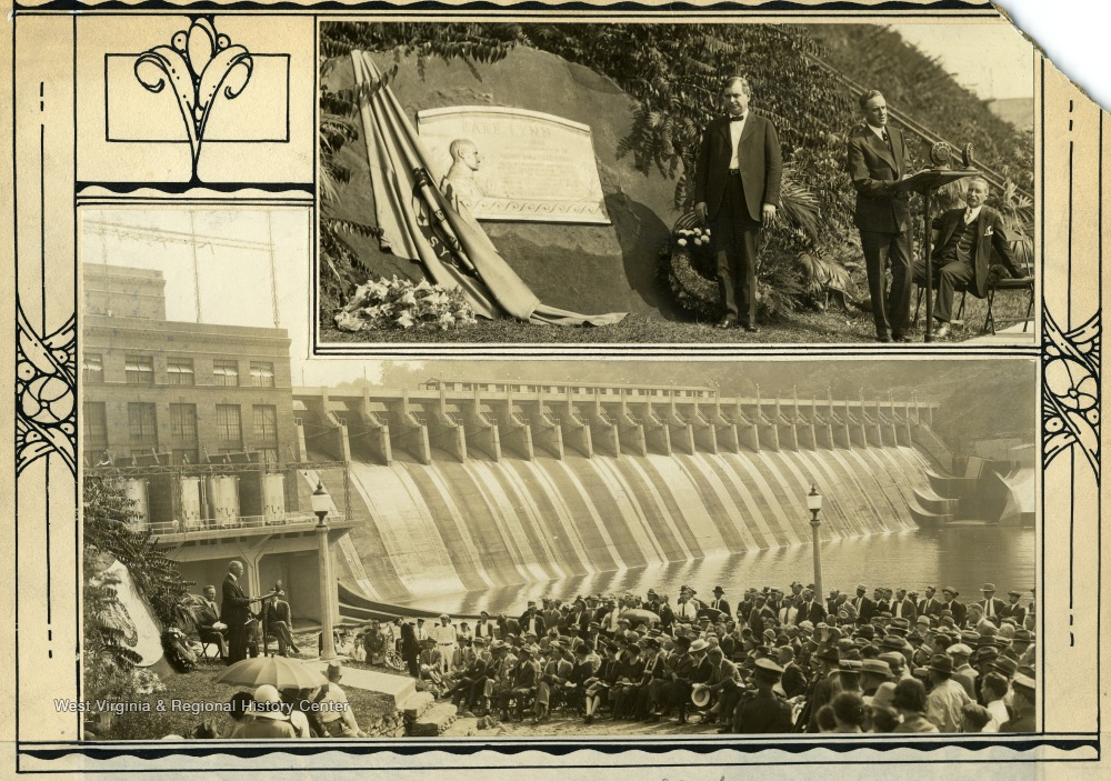 Two Photos of the Dedication of Lake Lynn Dam, Monongalia County, W