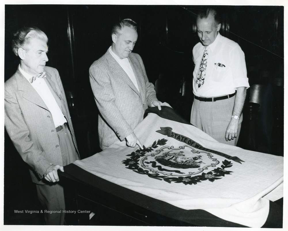 George Hott, Councilman, T. M. Foreman, Mayor and Elmer Prince, City Manager.