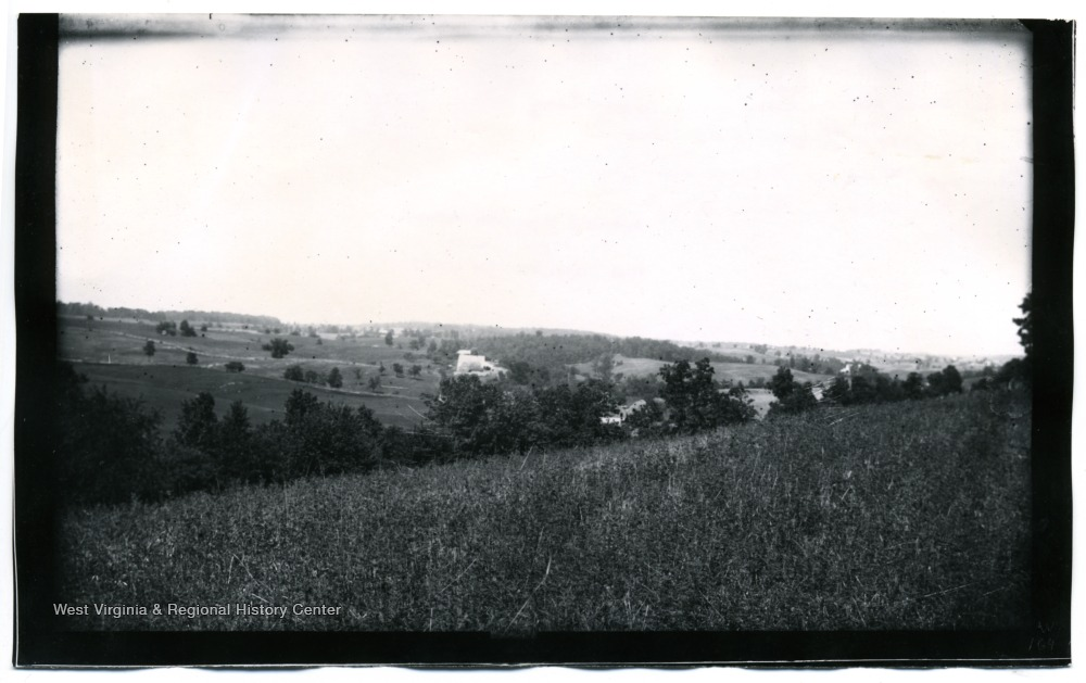 A view of Antietam from Benjamin's battery; the photo was taken about 12:45 p.m.  164 W (68).