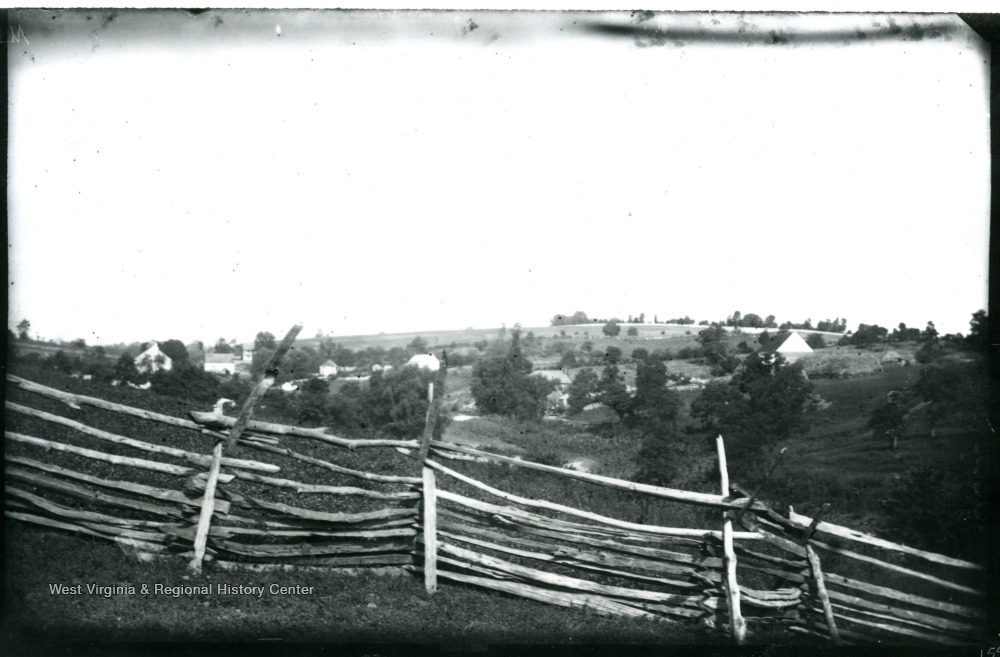 A view on Confederate side near Burnside Bridge; the photo taken at 9:20 am.  159 w65.