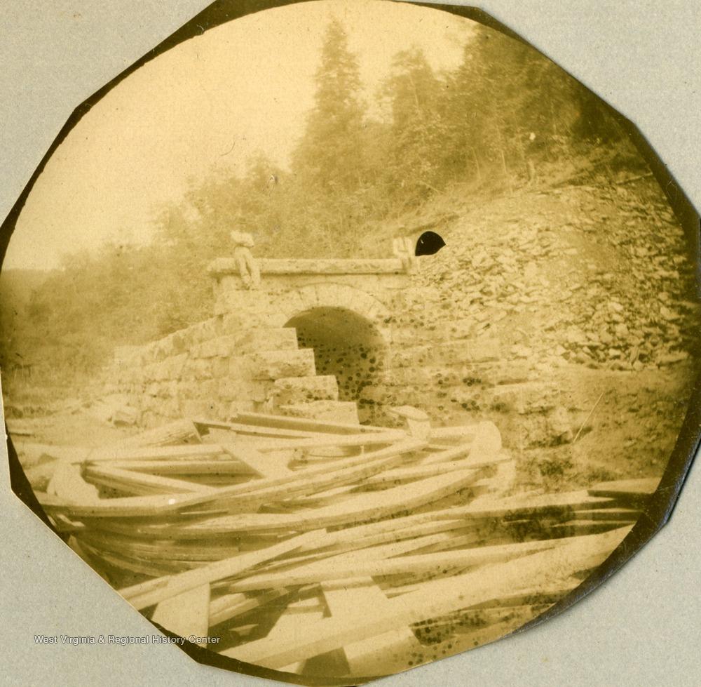 Culvert on Ohio Extension of Norfolk & Western Railroad in