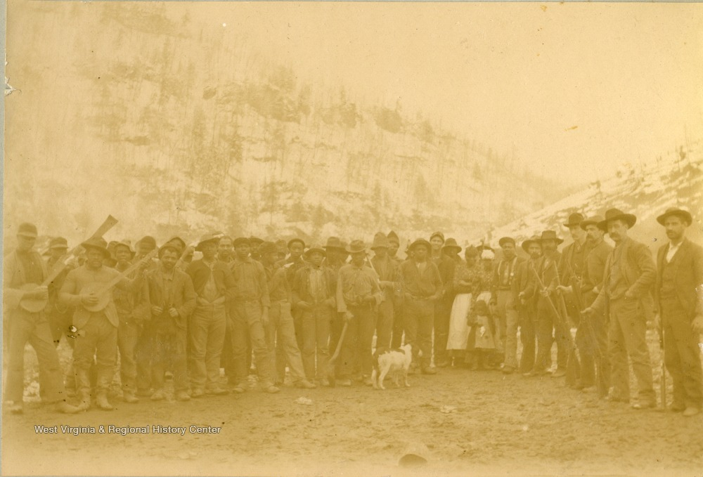 Group of Railroad Employees During Construction on Norfolk