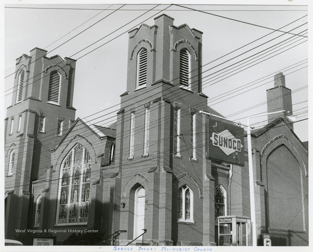 The Methodist Protestant church was organized in 1830 in Morgantown.  The original church building was destroyed by fire, and eventually the church moved to it's current location on Spruce street.