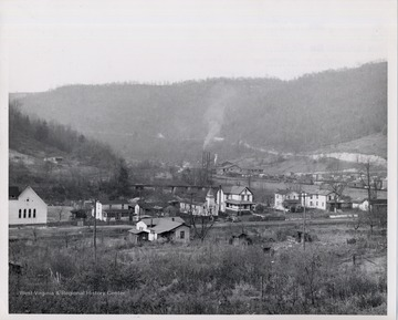 Mill among residences in Fenwick, W.Va. Dismantled Summer 1969.