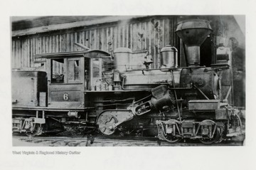 Train engine side shot. (Photo from Andy Burrell Collection) Photo has Benj. F. G. Kline, Jr. stamp on it.