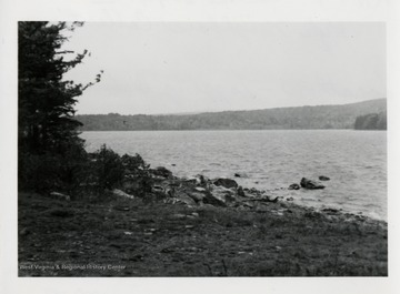 W. Va. Pulp and Paper Company Lake Formed by dam, circa 1974.