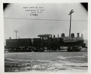 Train engine.  At bottom of pix says:  Note:  Also applicable to shop No. 2248, C&O Rd. No. 11 (1910), built to same plan No. 1586.
