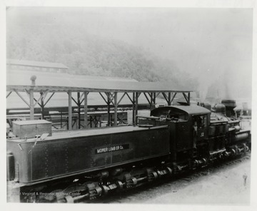 Side view of train engine.