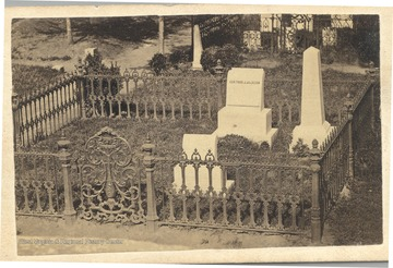Grave of Stonewall Jackson prior to building of monument.