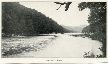 Scenic view of the Cheat River.