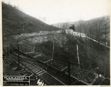 Coal carts outside of the Gauley Mountain Coal Company, Kanawha Manufacturing Co., Charleston, W. Va.