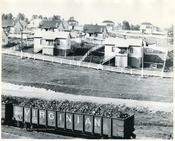 Caption on back reads, 'This section of Cranberry shows fine houses and fine coal.'