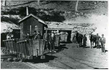Miners posing for a picture outside of an unknown mine. John Williams/Coal Life Project.