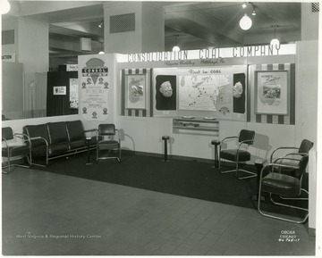 Consolidated Coal Co. display at the National Pm. [sic] Agents Convention in Chicago, 1946.