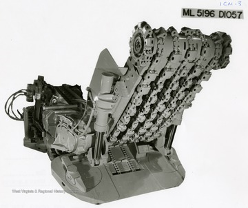 A Joy Manufacturing Co. Continuous Mining Machine. ML 5196 DIO57.