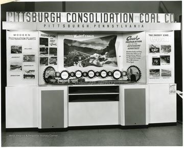 Consolidation Coal Company display at the Careers in Engineering show in Pittsburgh, PA, 1954.