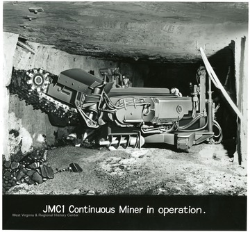 Man operating a JMC1 continuous miner.