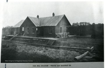 White Oak Railway Co. built this Oak Hill Station to serve the area.