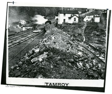 Coal train passing through Tamroy, which was bought from McKell Estate.