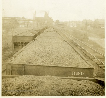 B&O coal train with a full load of coal.