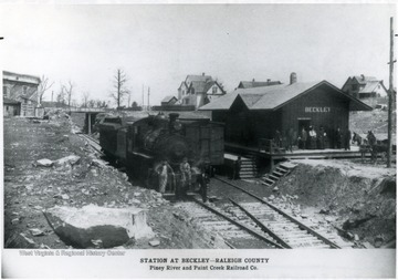 Station of the Piney River and Paint Creek Railroad Co. at Beckley, Raleigh County, W. Va.