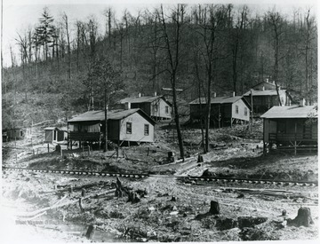 Houses at the Dunedin Coal Co. camp.