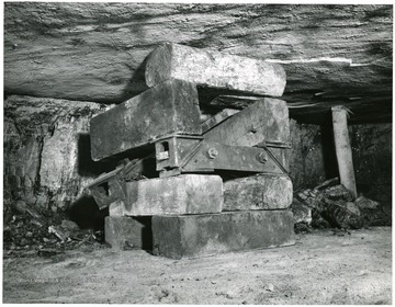 'Modified Longwall Mining with a German Coal Planer. Progress Report 2: Completion of Mining in three Adjacent Panels in the Pocahontas No. 4 Coal Bed, Helen, W. Va.'If this photograph is used for publication, please give credit to the Bureau of Mines, United States, Department of Interior.