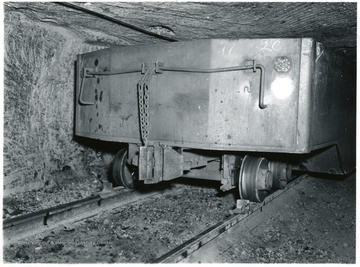 Mine car traveling through the mine.