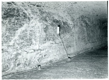 Jamison No. 9 Mine shaft with a tensioning device on a cable.