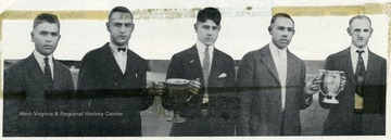 From left to right: Jake Sibloski, Walter Miller, Louis Roncaglione, Andrew Vargo and Fred Lamb.
