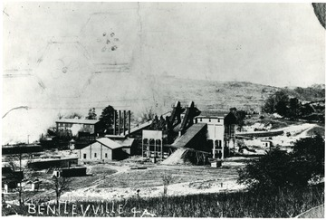 View of mine buildings at the Acme Mine.