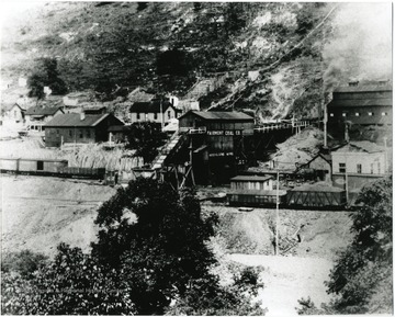 High Lane Mine tipple and surrounding buildings.