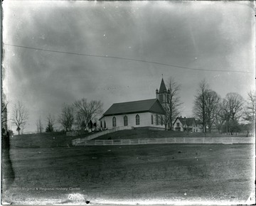 Old Greenbrieer Baptist Church with side cemetery.