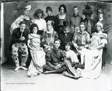 Group portrait of students dressed in costume.