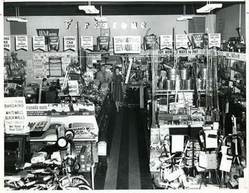 Interior of Ashworth Home and Auto Supply, a Firestone Store, 211 Price Street, Beckley, West Virginia.