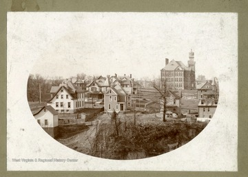 'View of South Side of Fairmont, West Virginia from Shafer Studio.'