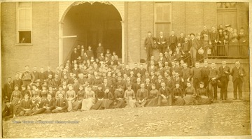 Group portrait of students at the Fairmont State Normal School.