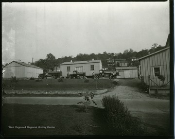 Various buildings and trucks of the Standard Oil Company in Grafton, West Virginia.