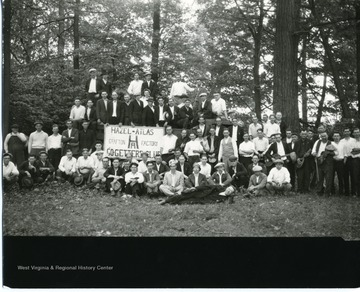 "Group portrait of Hazel Atlas ""Go Getters"" Club members in Grafton, West Virginia."