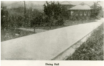 View of the Dining Hall at the W. Va. Industrial School for Boys.