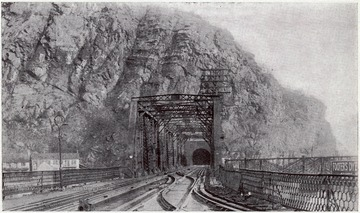 B. and O. Tunnel going under Maryland Heights in Harpers Ferry, W. Va.