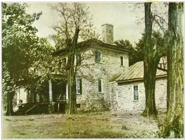 'The home of Colonel Samuel Washington, brother of General George Washington.  Built by George Washington for his brother Samuel about the year 1765.  Here Samuel Washington entertained Louis Phillippe, later King of France, and General Lafayette.'