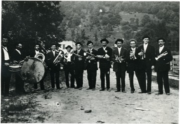 Group portrait of the Star Band at Helvetia.