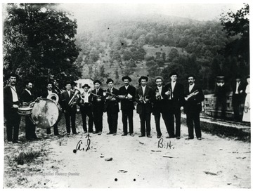 Group portrait of the Star Band at Helvetia, W. Va.