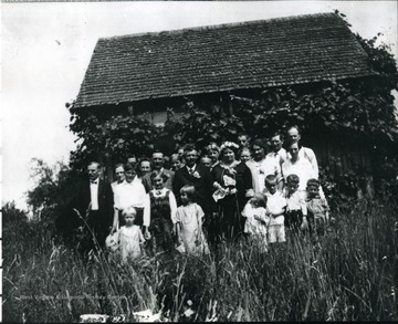 Large group at a wedding party in Helvetia, W. Va.