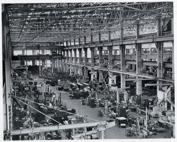 Interior of the C. and O. Machine Shops in Huntington, West Virginia.