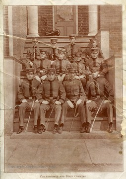 Commissioned and Staff Officers of the Greenbrier Military School in Lewisburg, West Virginia.