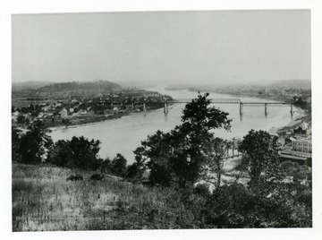 A view of Parkersburg, West Virginia and Belpre, Ohio in the 1890s.