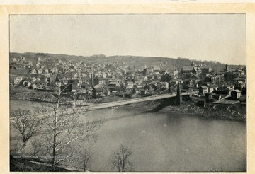 A view of Morgantown, West Virginia in 1902, population 7,000.