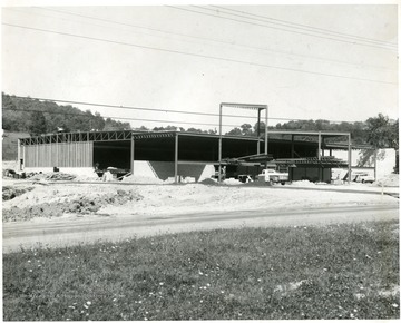 Bowling alley under construction on Chestnut Ridge Road, Morgantown, W. Va.